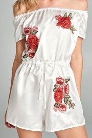 Racine Floral Embroidered Romper - Other
