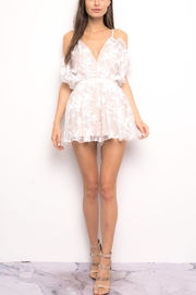 Blithe  Floral Embroidered Romper - Front cropped