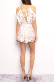 Blithe  Floral Embroidered Romper - Front full body