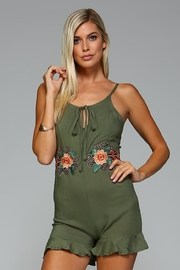 Racine Floral Embroidered Romper - Product Mini Image