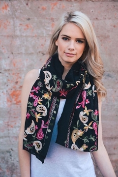 Shoptiques Product: Floral Embroidered Scarf