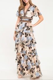 Latiste Floral-Embroidered Sequins Dress - Product Mini Image