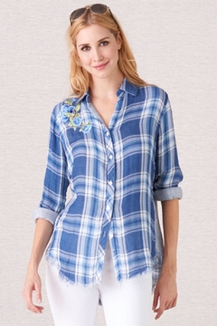 Biz Floral Embroidered Shirt - Product List Image