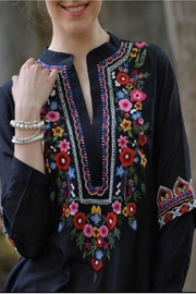 Avani del Amour Floral Embroidered Shirt - Product Mini Image