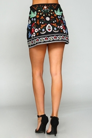 Racine Floral Embroidered Skirt - Back cropped