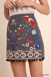 Umgee USA Floral Embroidered Skirt - Product Mini Image