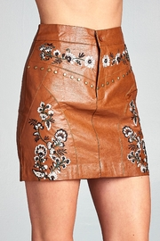Racine Floral Embroidered Skirt - Product Mini Image