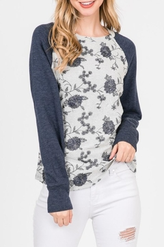Paper Crane Floral Embroidered Sweatshirt - Product List Image