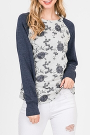 Paper Crane Floral Embroidered Sweatshirt - Product Mini Image