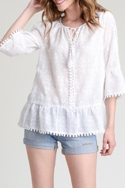 Hem & Thread Floral Embroidered Top - Product Mini Image