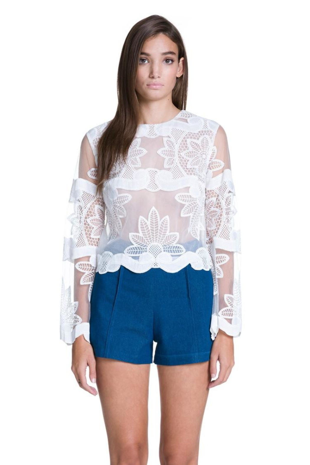 Endless Rose Floral Embroidered Top - Main Image