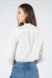 FANCO Floral Embroidered Top - Side cropped