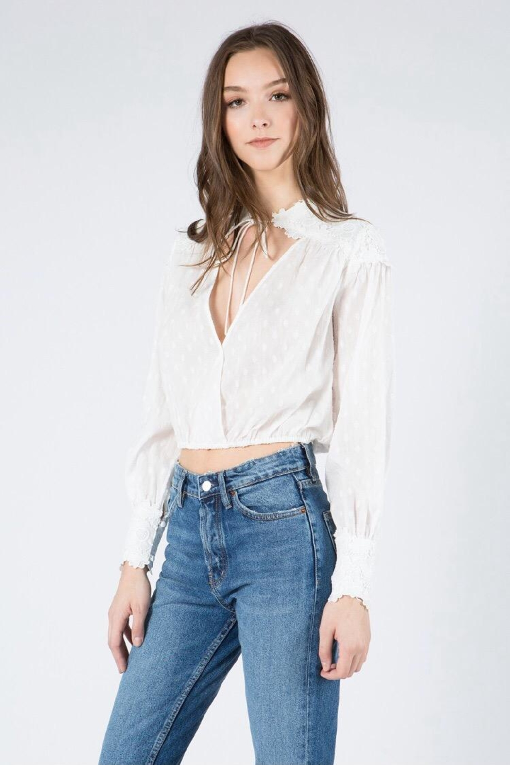 FANCO Floral Embroidered Top - Main Image