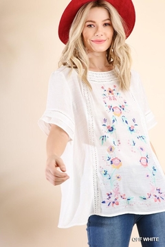 6571f36ccc6d ... Umgee USA Floral Embroidered Top - Product List Image