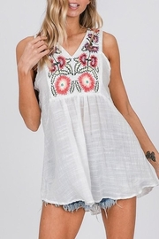 CY USA Floral Embroidered Top - Product Mini Image