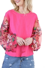 Modern Emporium Floral Embroidered Top - Product Mini Image
