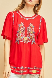 Entro Floral Embroidered Top - Product Mini Image