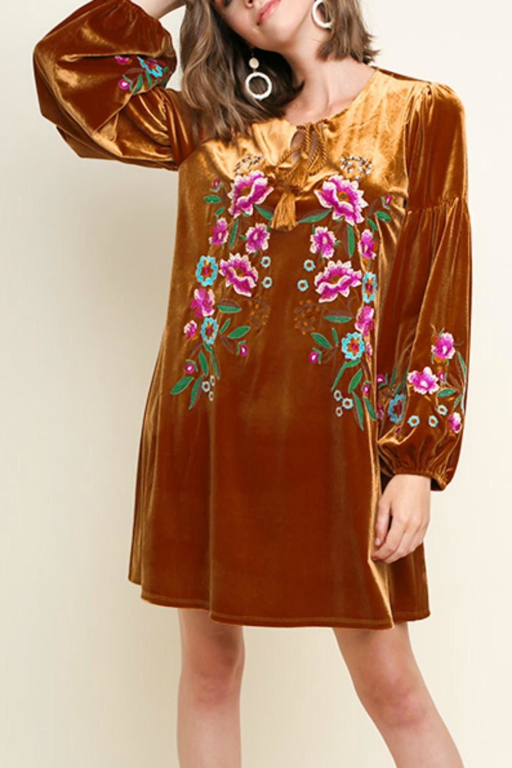 Umgee USA Floral Embroidered Velvet - Main Image