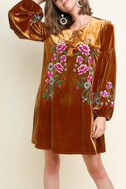 70s Prom, Formal, Evening, Party Dresses Floral Embroidered Velvet $58.00 AT vintagedancer.com