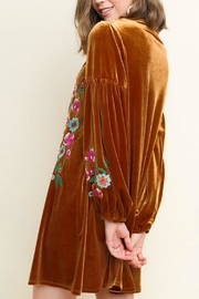 Umgee USA Floral Embroidered Velvet - Front full body