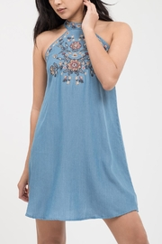 Blu Pepper Floral Embroidery Dress - Product Mini Image