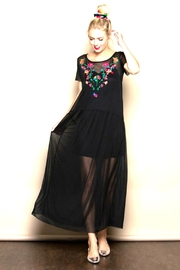 Modern Emporium Floral Embroidery Dress - Product Mini Image