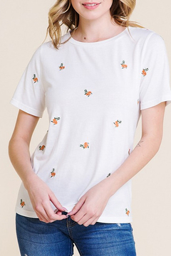 Polagram Floral Embroidery Top - Product List Image