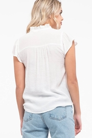 Mine Floral Embroidery Top - Back cropped