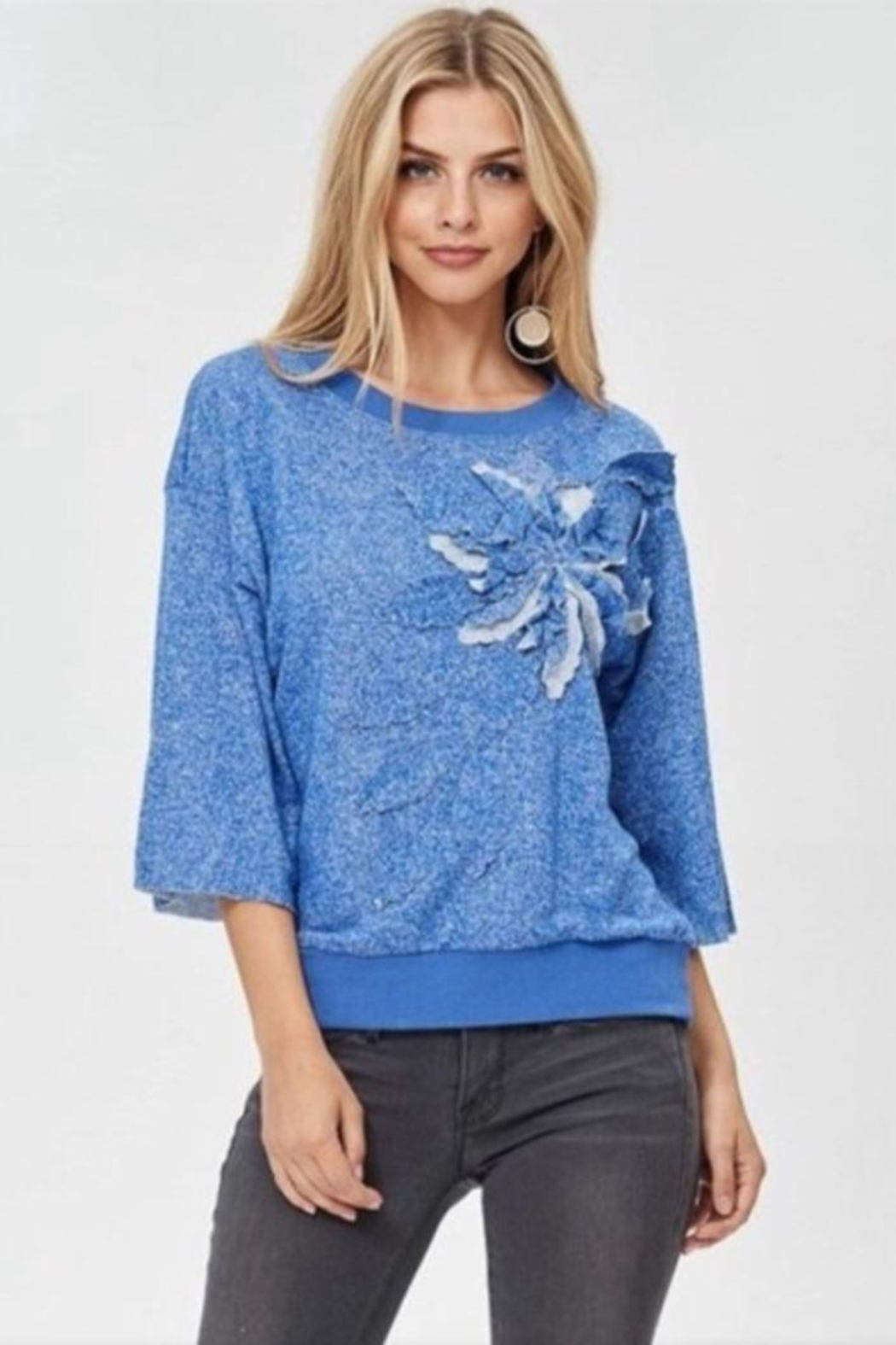 JJ'S Fairyland Floral Embroidery Top - Main Image