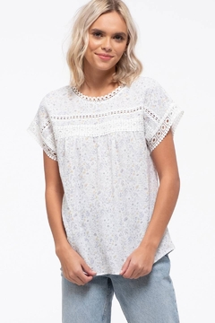 Shoptiques Product: Floral Eyelet Top