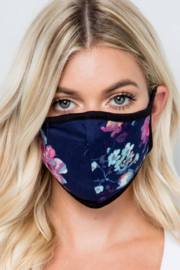 Acting Pro Floral Fabric Face Mask - Product Mini Image