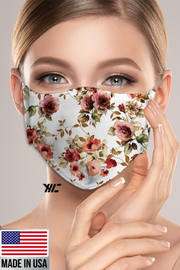 R+D  Floral Face Mask - Front cropped