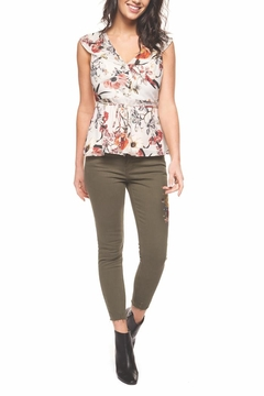 Black Tape Floral Fanatic Top - Product List Image