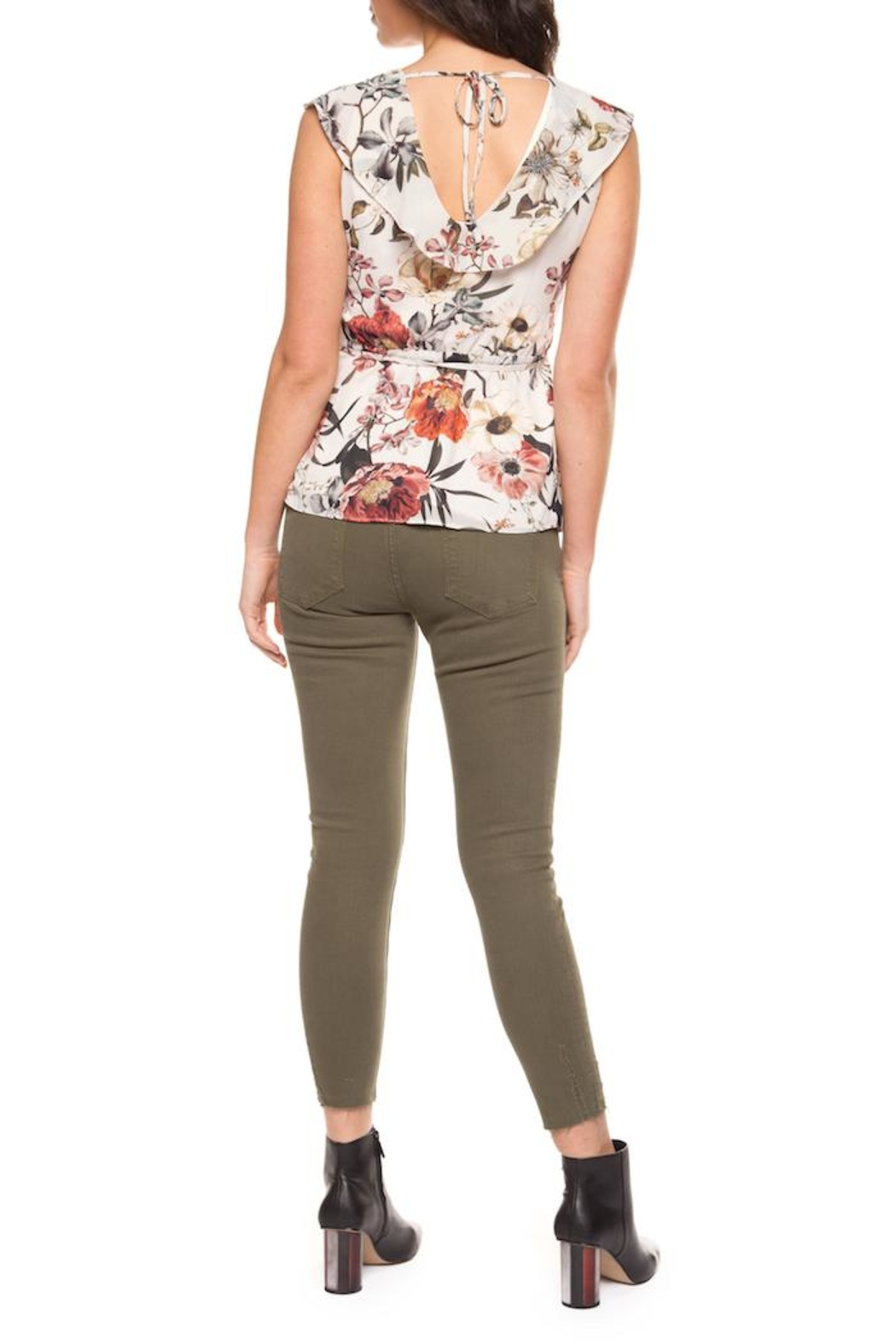 Black Tape Floral Fanatic Top - Front Full Image