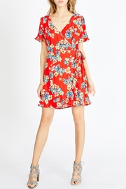 Sadie & Sage Floral Faux Wrap-Dress - Product Mini Image