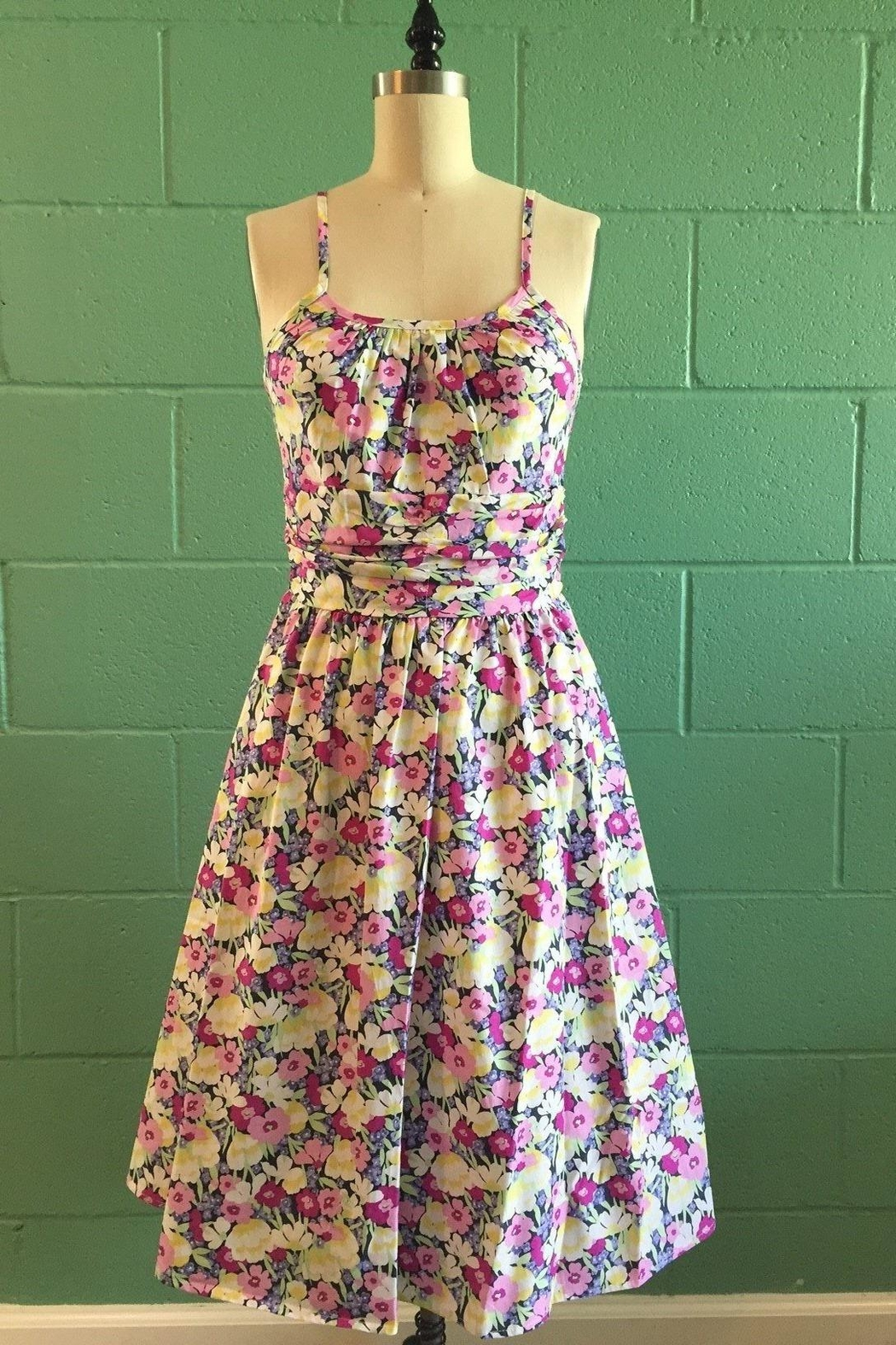 Retrolicious Floral Fields Dress - Main Image