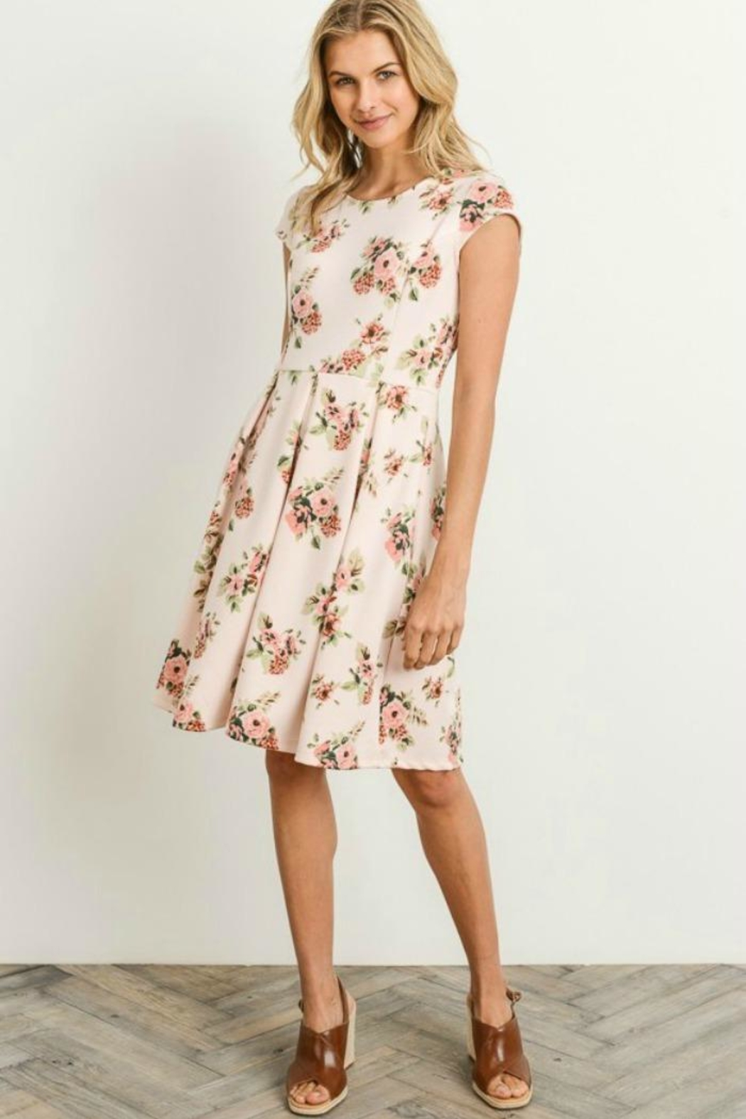 Gilli Floral Fit-N-Flare Dress - Front Full Image