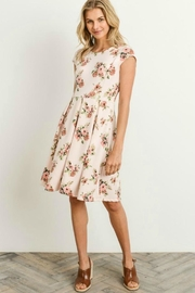 Gilli Floral Fit-N-Flare Dress - Front full body