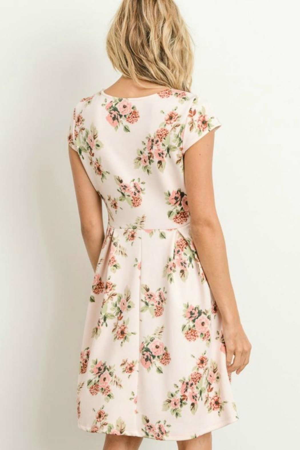 Gilli Floral Fit-N-Flare Dress - Side Cropped Image