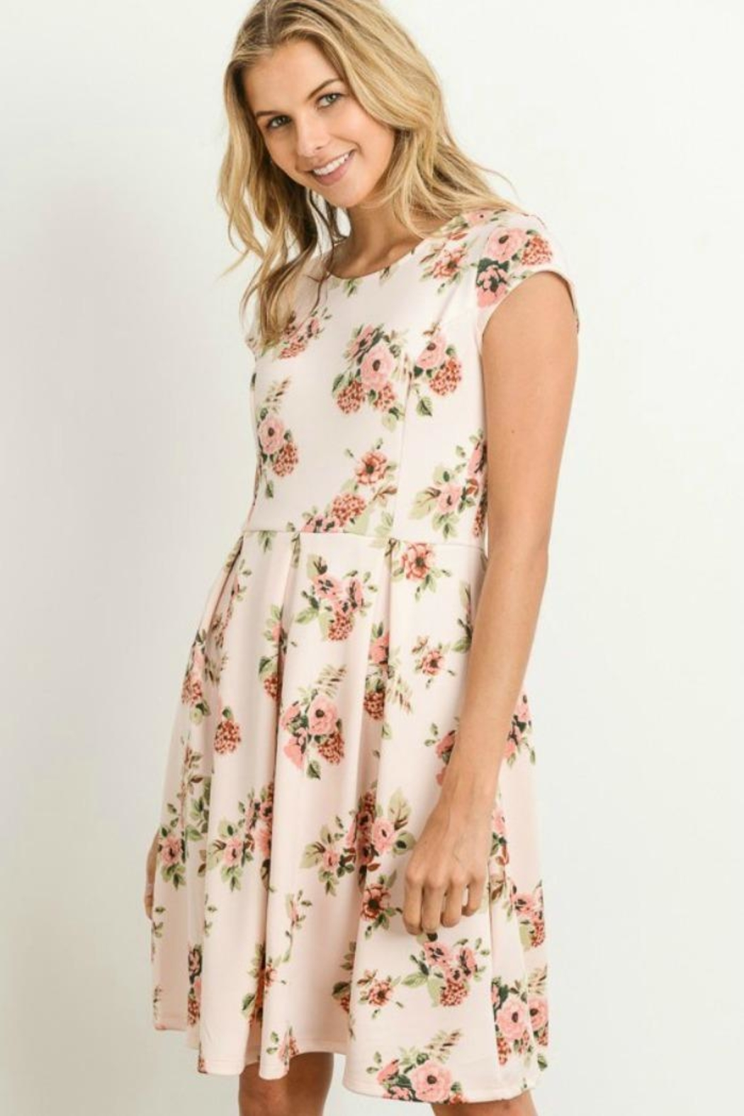 Gilli Floral Fit-N-Flare Dress - Main Image