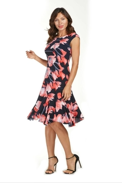 Frank Lyman Floral Flare Dress - Alternate List Image
