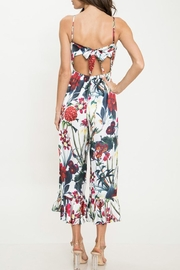 Latiste Floral Flare-Out-Leg Jumpsuit - Back cropped