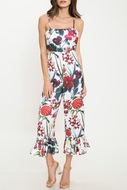 Latiste Floral Flare-Out-Leg Jumpsuit - Front cropped