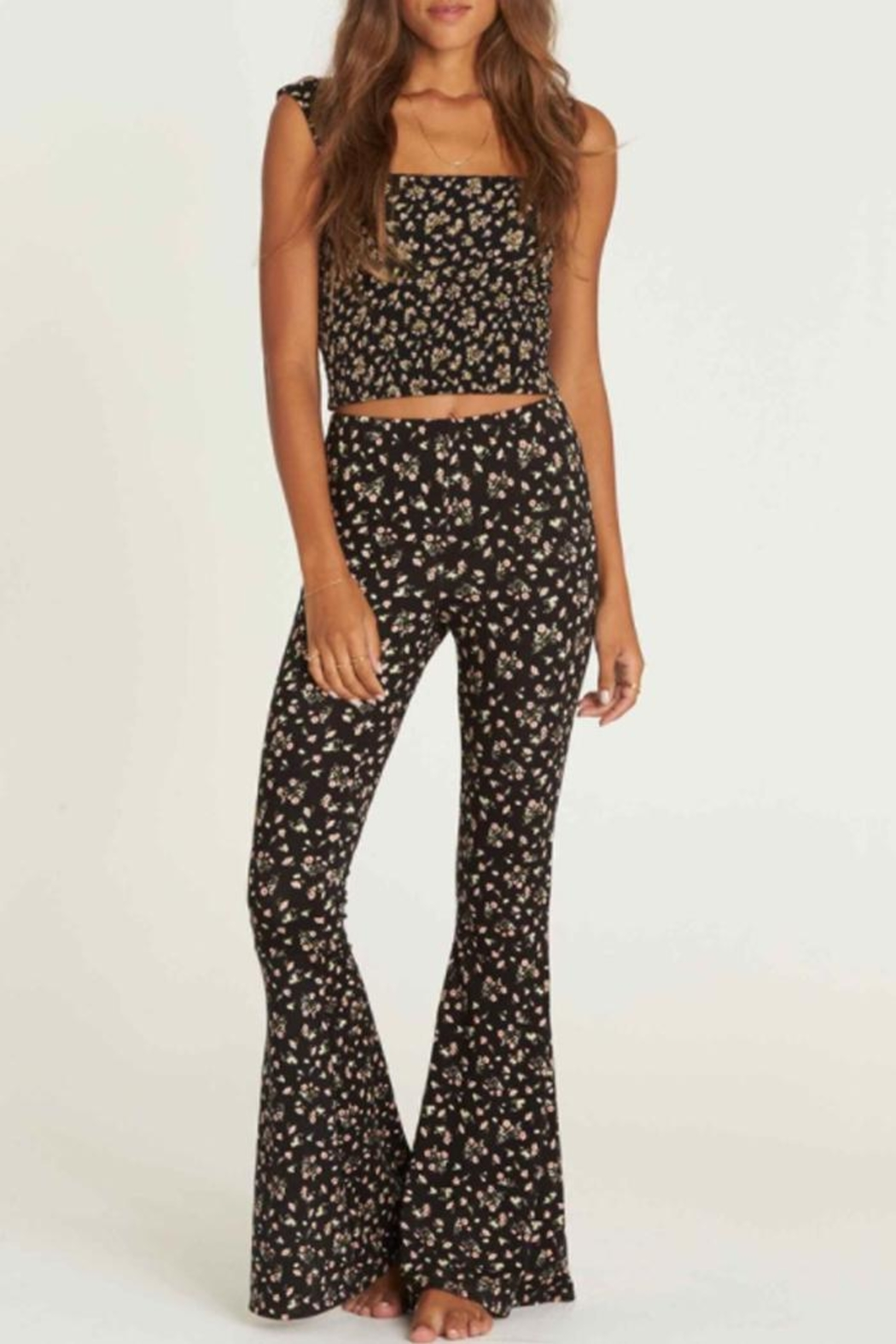 Billabong Floral Flare Pant - Front Cropped Image