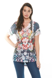 Inoah Floral Flare Top - Product Mini Image