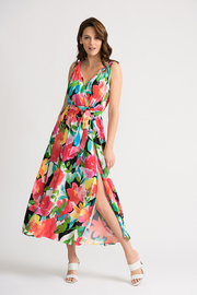 Joseph Ribkoff Floral Flared Maxi Dress - Product Mini Image