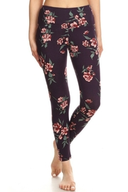 S&G Apparel Floral Fleece-Lined Leggings - Product Mini Image