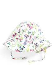JoJo Maman Bebe Floral Floppy Hat - Front cropped