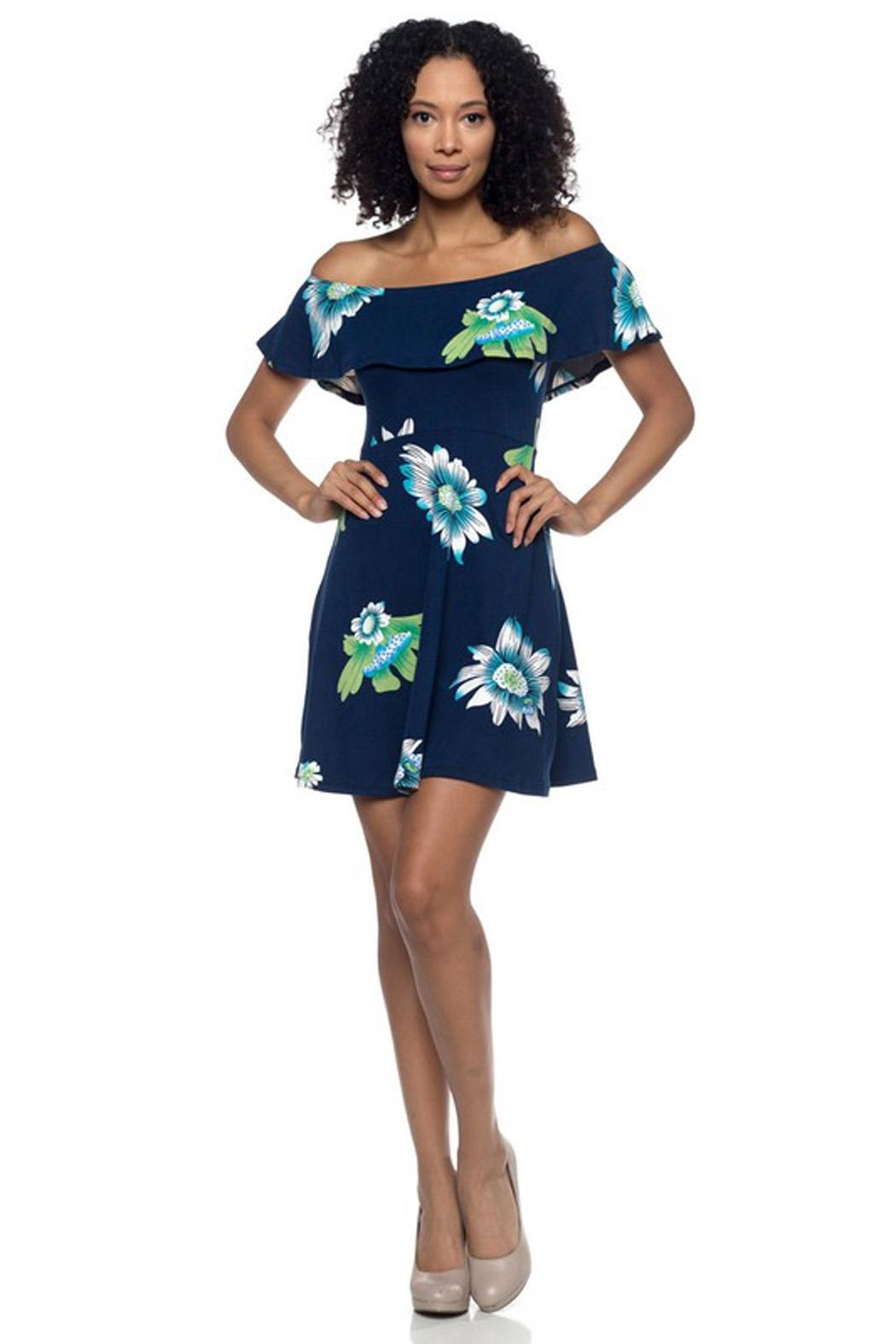 Capella Apparel Floral Flounce Dress - Front Cropped Image