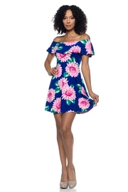 Capella Apparel Floral Flounce Dress - Front cropped
